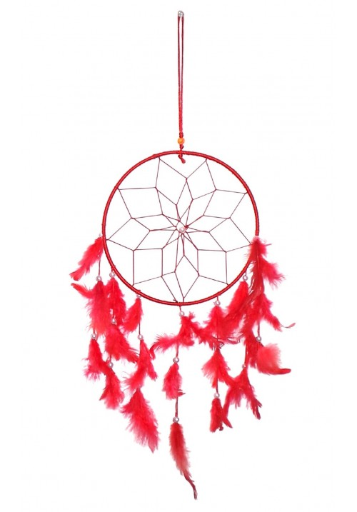 Wool Windchime (24 inch, Red, White)