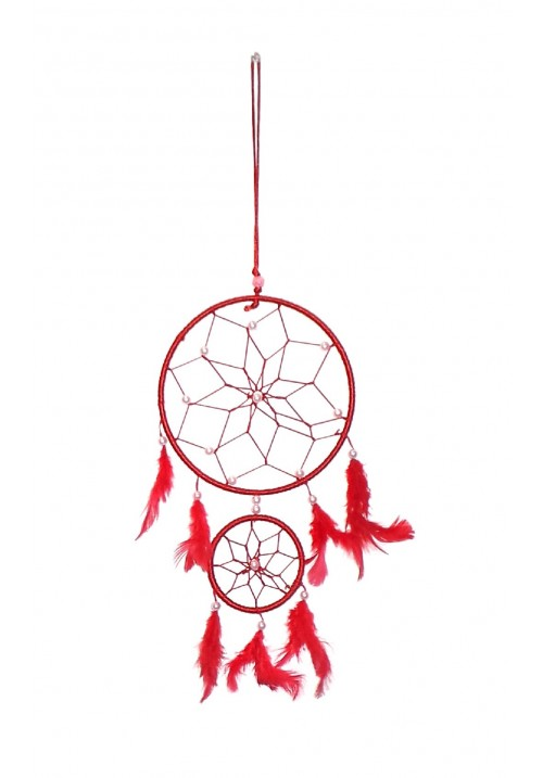 Wool Windchime (19 inch, Red, White)