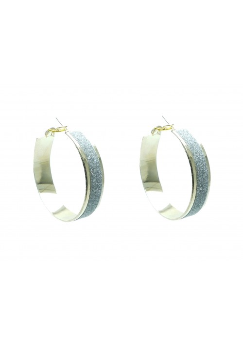 Forever New Exquisite Shimmer Alloy Hoop Earring
