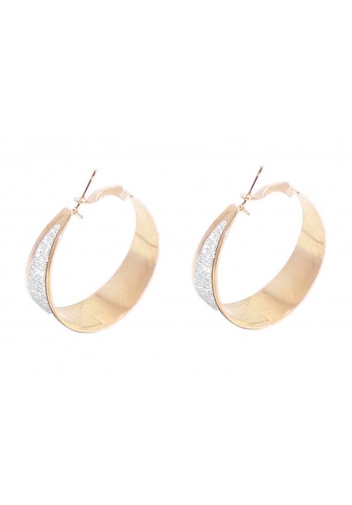 Shine On Alloy Hoop Earring