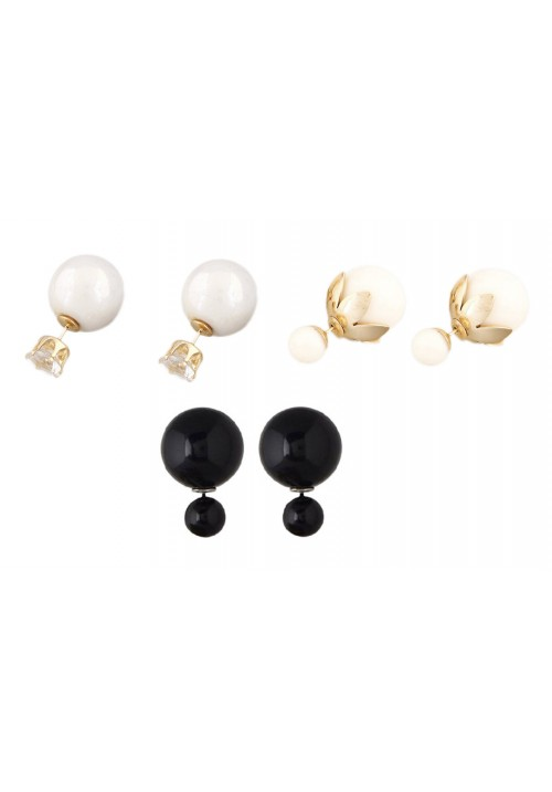 Hot Shining Double Sided (Set Of 3Pairs) Alloy Stud Earring