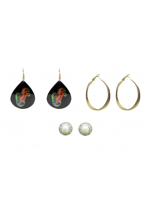 Sparkling Beauty (Set Of 3Pairs) Alloy Earring Set