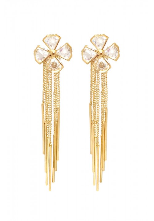 Hot Shining Flower Crystal Alloy Dangle Earring