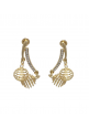 Hot Shining Golden Zircon Alloy Dangle Earring
