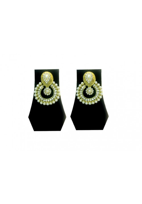 Forever Young Gemstone&Pearl Traditional Alloy Dangle Earring