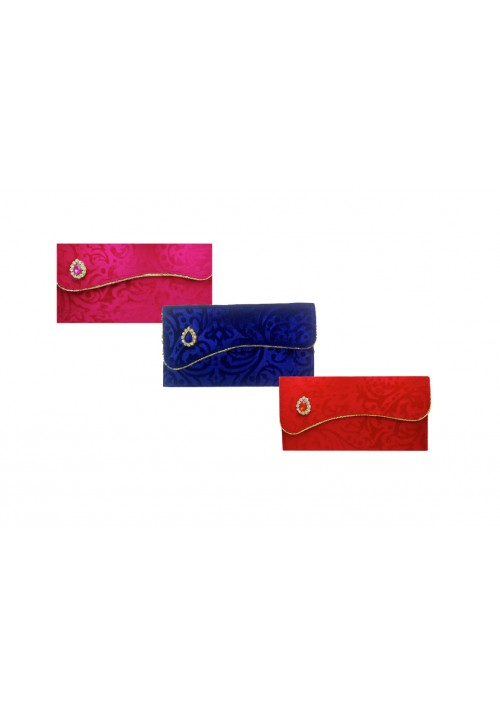 Designer Ethnic Festivity Glamour Envelopes (Pack of 3 Red, Blue, Pink, Gold)