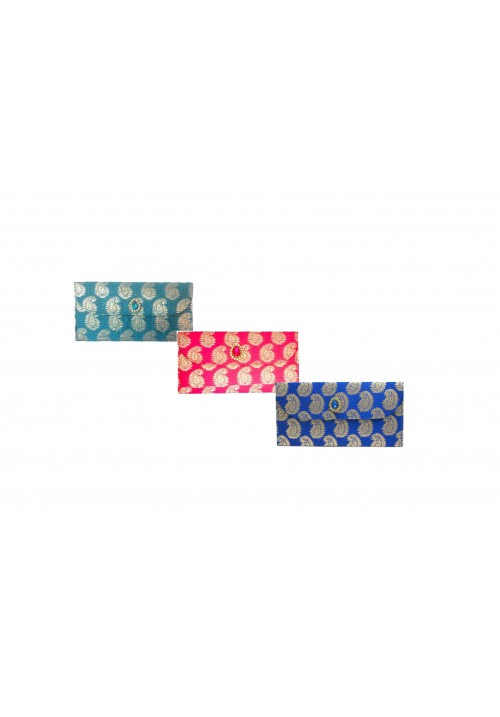 Designer Ethnic Festivity Glamour Envelopes (Pack of 3 Pink, Red, Blue, Gold)