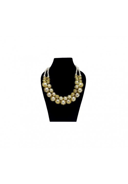 Chic Bead Glam Alloy Necklace