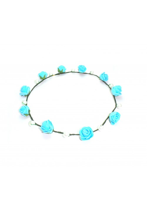 Forever Glam FloraNFashion Tiara Head Band (Blue, Green)